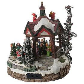 Weihnachtsszenen Tanzplatz mit Musik 25cm s4