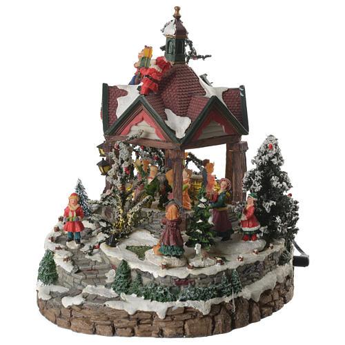 Weihnachtsszenen Tanzplatz mit Musik 25cm 2