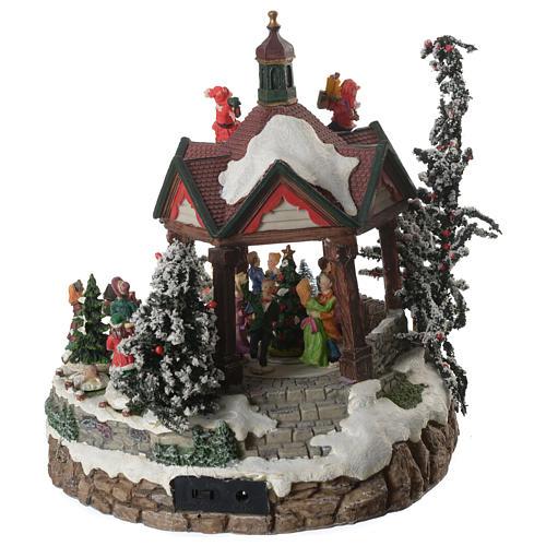 Weihnachtsszenen Tanzplatz mit Musik 25cm 4