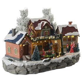 Weihnachtsszene mit Zug und Nikolaus 35x20x25cm s3