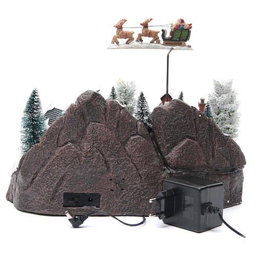 Villaggio invernale slitta Babbo Natale 30x25x25 cm 4