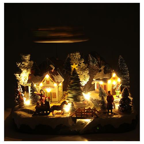 Villaggio invernale slitta Babbo Natale 30x25x25 cm 5