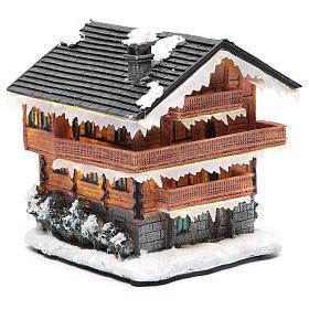 Chalet villaggio natalizio 20x20x20 cm s3
