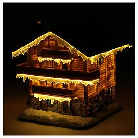 Chalet villaggio natalizio 20x20x20 cm s5