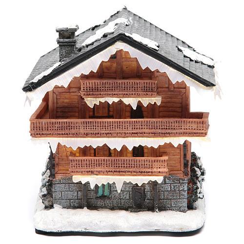 Chalet villaggio natalizio 20x20x20 cm 1