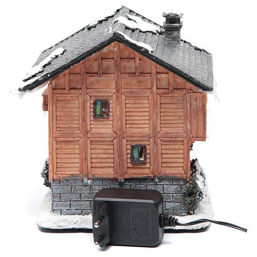 Chalet villaggio natalizio 20x20x20 cm 4