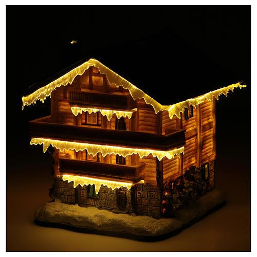 Chalet villaggio natalizio 20x20x20 cm 5