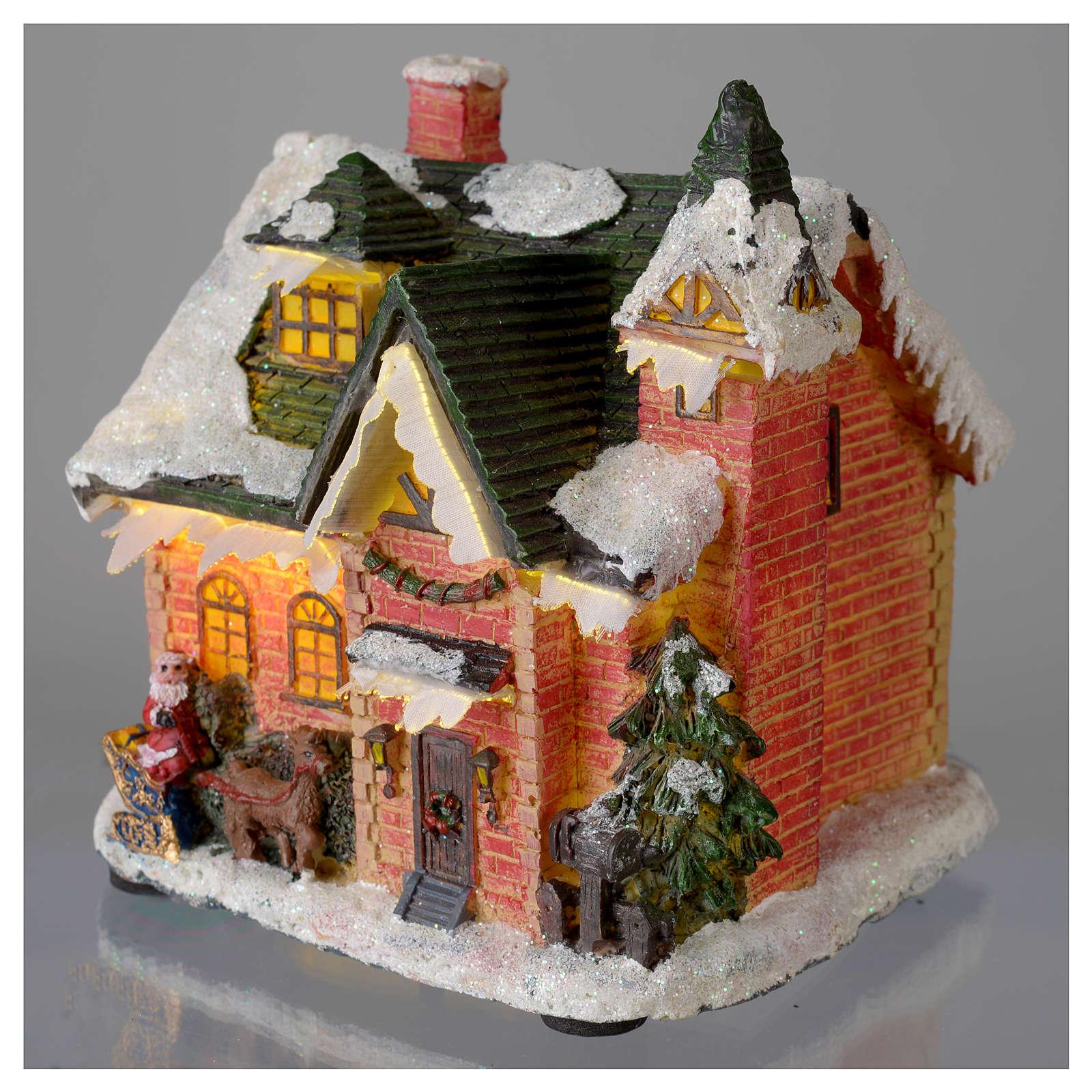 Casetta innevata villaggio invernale 15x10x15 3