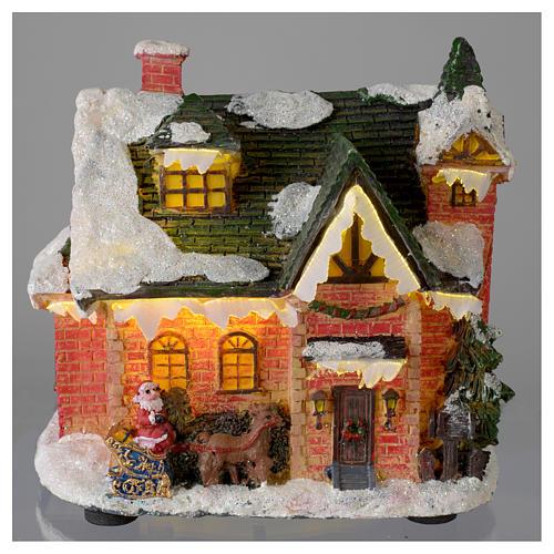 Casetta innevata villaggio invernale 15x10x15 2