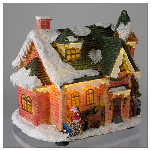 Casetta innevata villaggio invernale 15x10x15 4