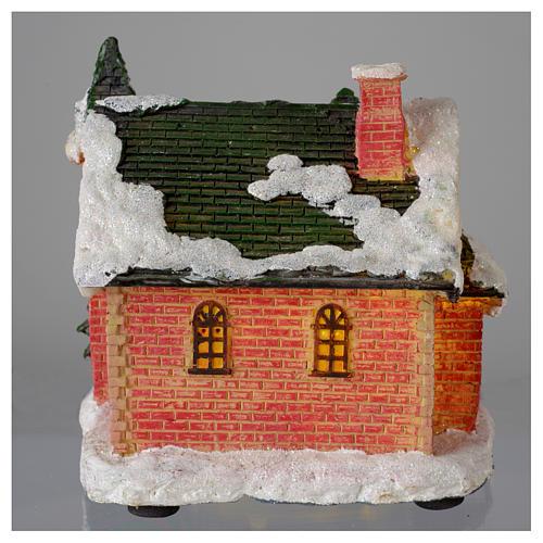 Casetta innevata villaggio invernale 15x10x15 5