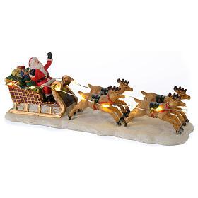 Slitta di Babbo Natale per villaggio 15x5x5 cm s1