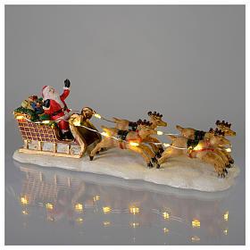 Slitta di Babbo Natale per villaggio 15x5x5 cm s2