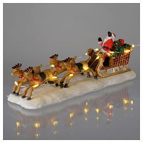 Slitta di Babbo Natale per villaggio 15x5x5 cm s3