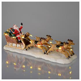 Slitta di Babbo Natale per villaggio 15x5x5 cm s4