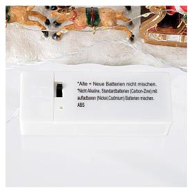 Slitta di Babbo Natale per villaggio 15x5x5 cm s7