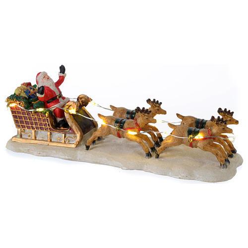 Slitta di Babbo Natale per villaggio 15x5x5 cm 1