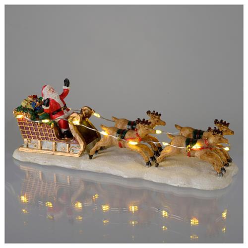 Slitta di Babbo Natale per villaggio 15x5x5 cm 2