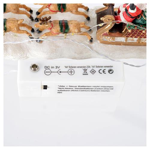 Slitta di Babbo Natale per villaggio 15x5x5 cm 6