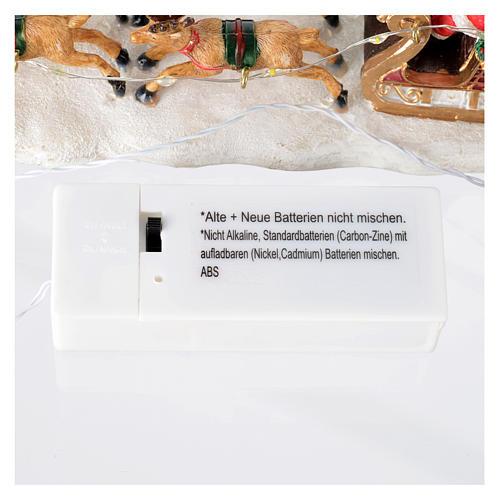 Slitta di Babbo Natale per villaggio 15x5x5 cm 7