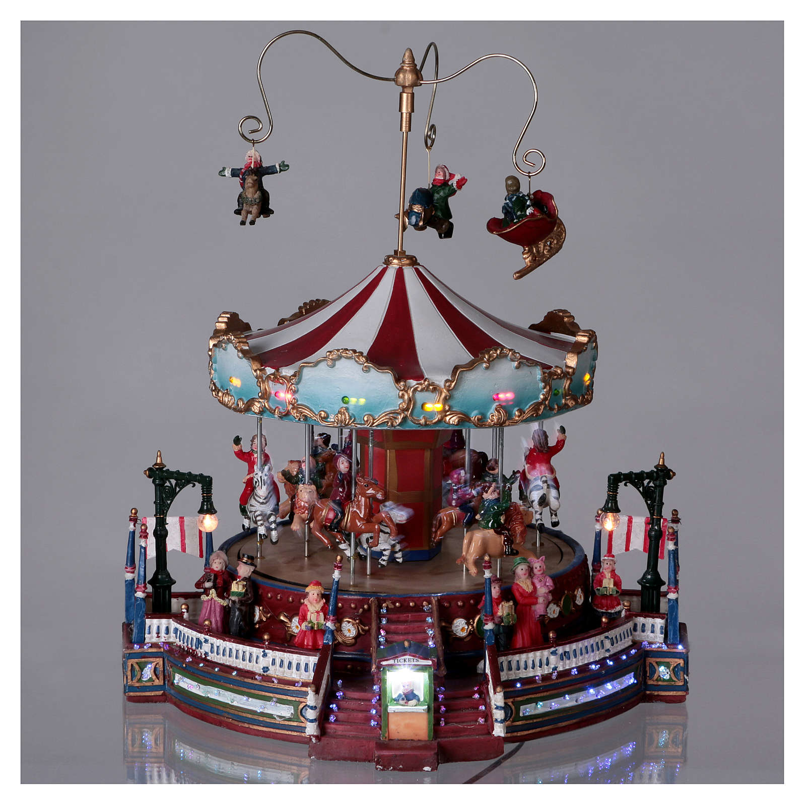 Winter moving merry-go-round 25x30x25 cm 3