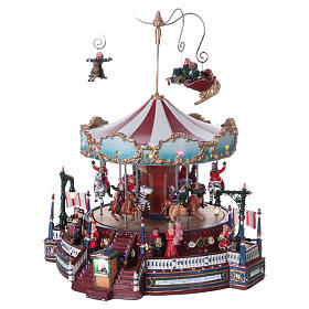 Winter moving merry-go-round 25x30x25 cm s3