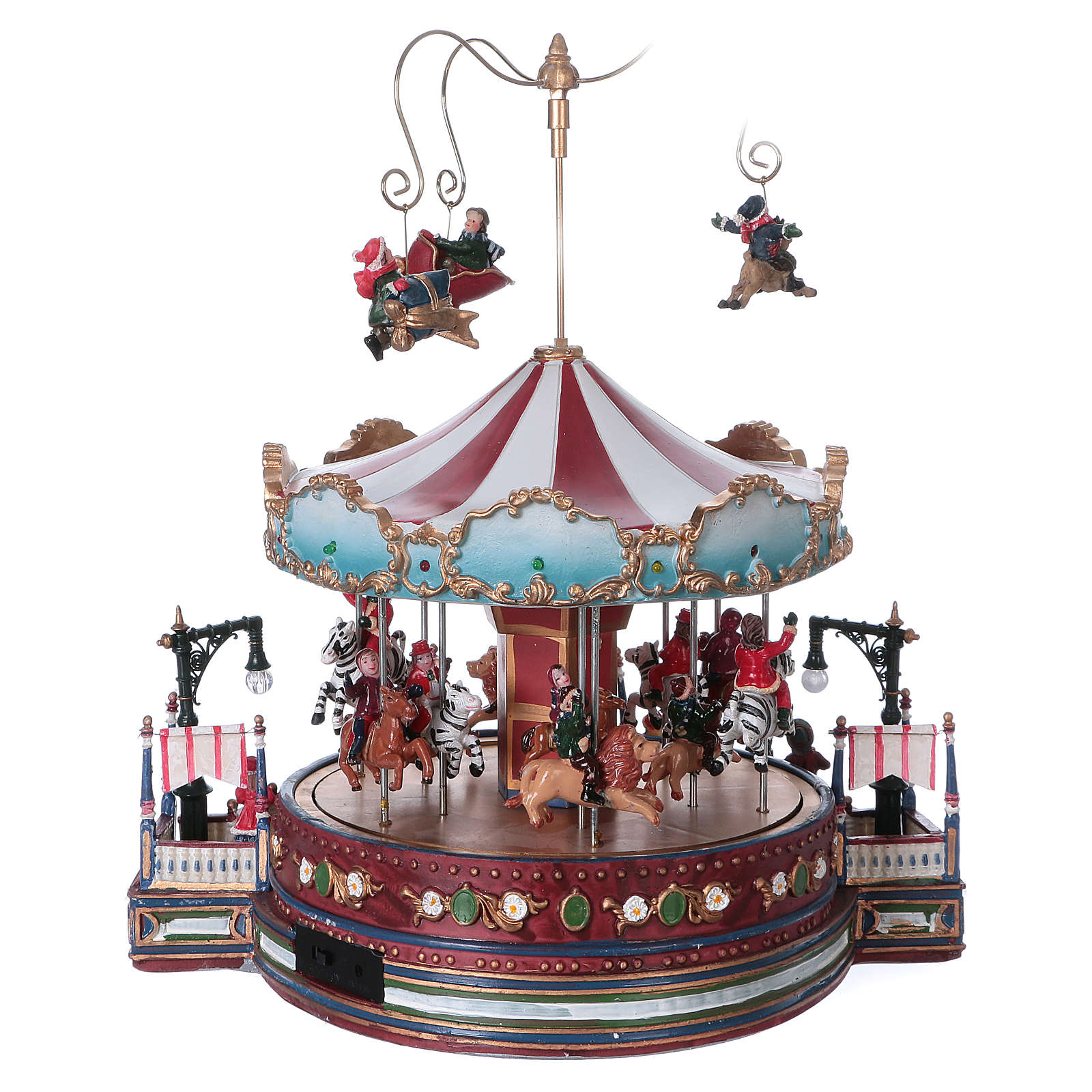 Carrusel navideño en movimiento 25x30x25 cm 3