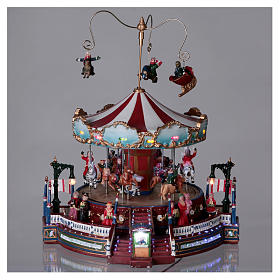 Carrusel navideño en movimiento 25x30x25 cm s2