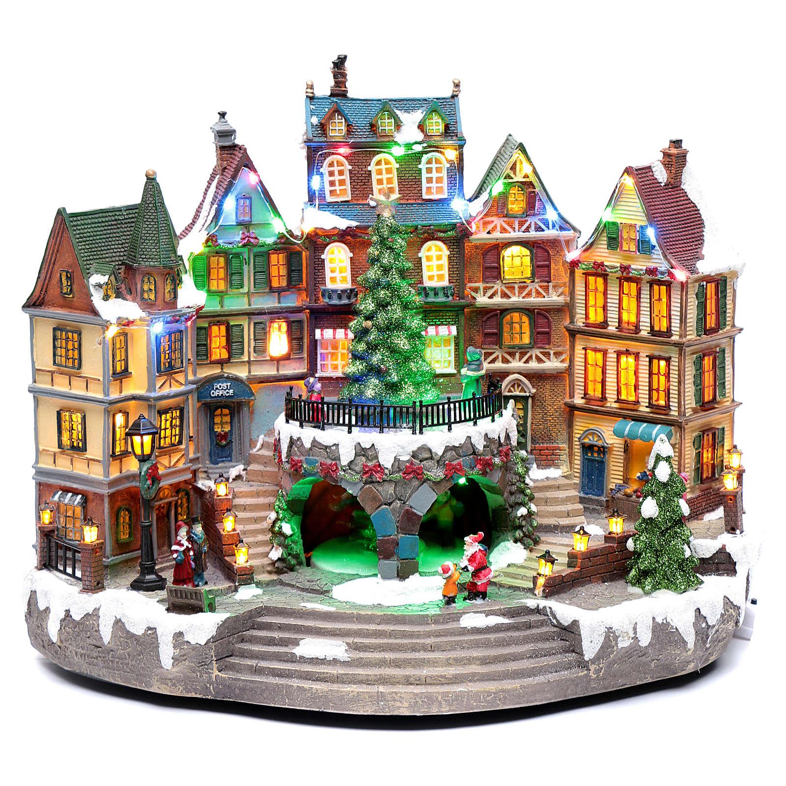 Winterszene mit Musik und Lichter 30x40x25cm 3