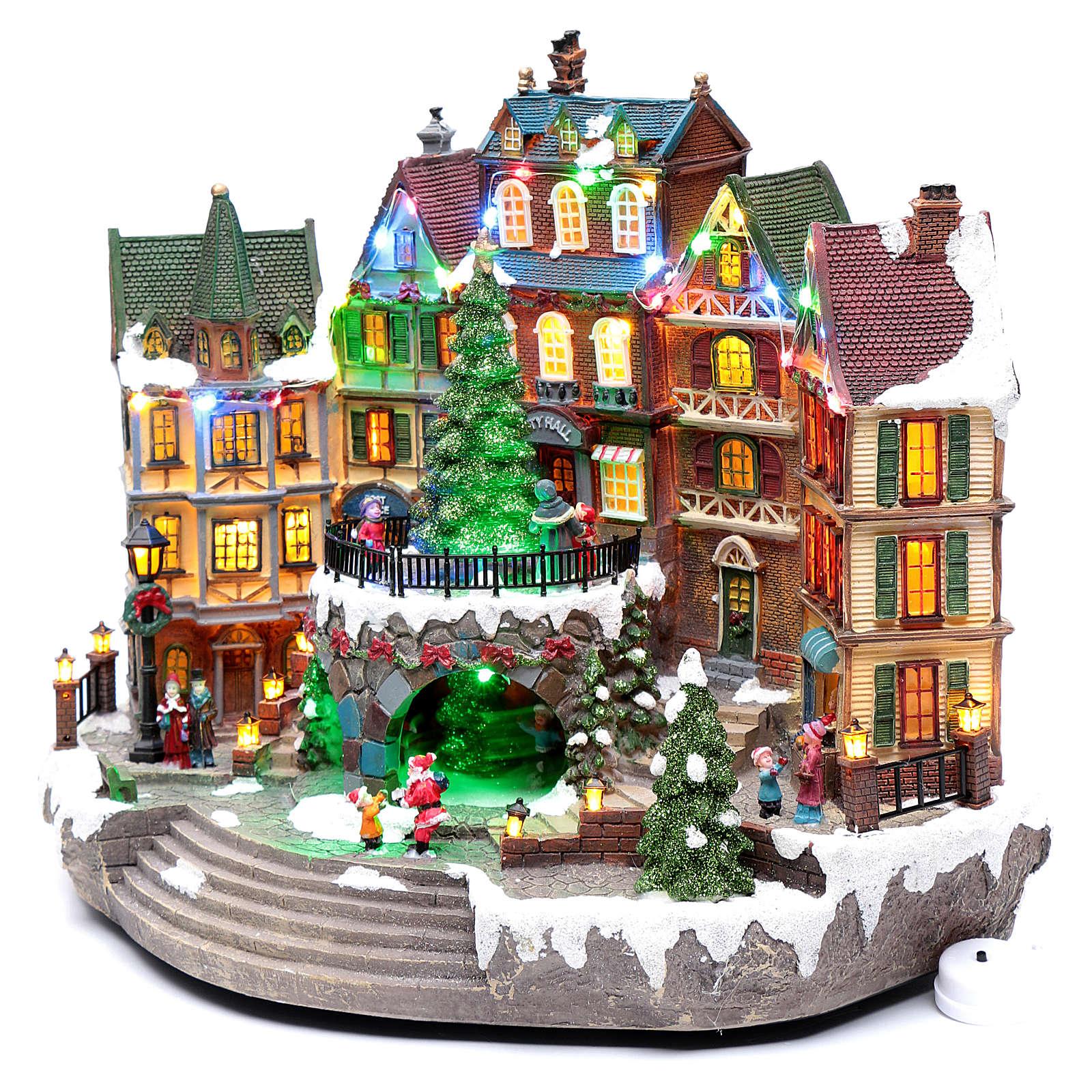 Paisaje navideño musical con luces 30x40x25 cm 3