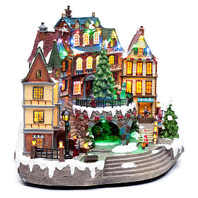 Paisaje navideño musical con luces 30x40x25 cm s3