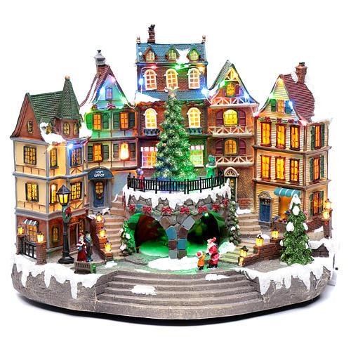 Scena natalizia musicale con luci 30x40x25 cm 1