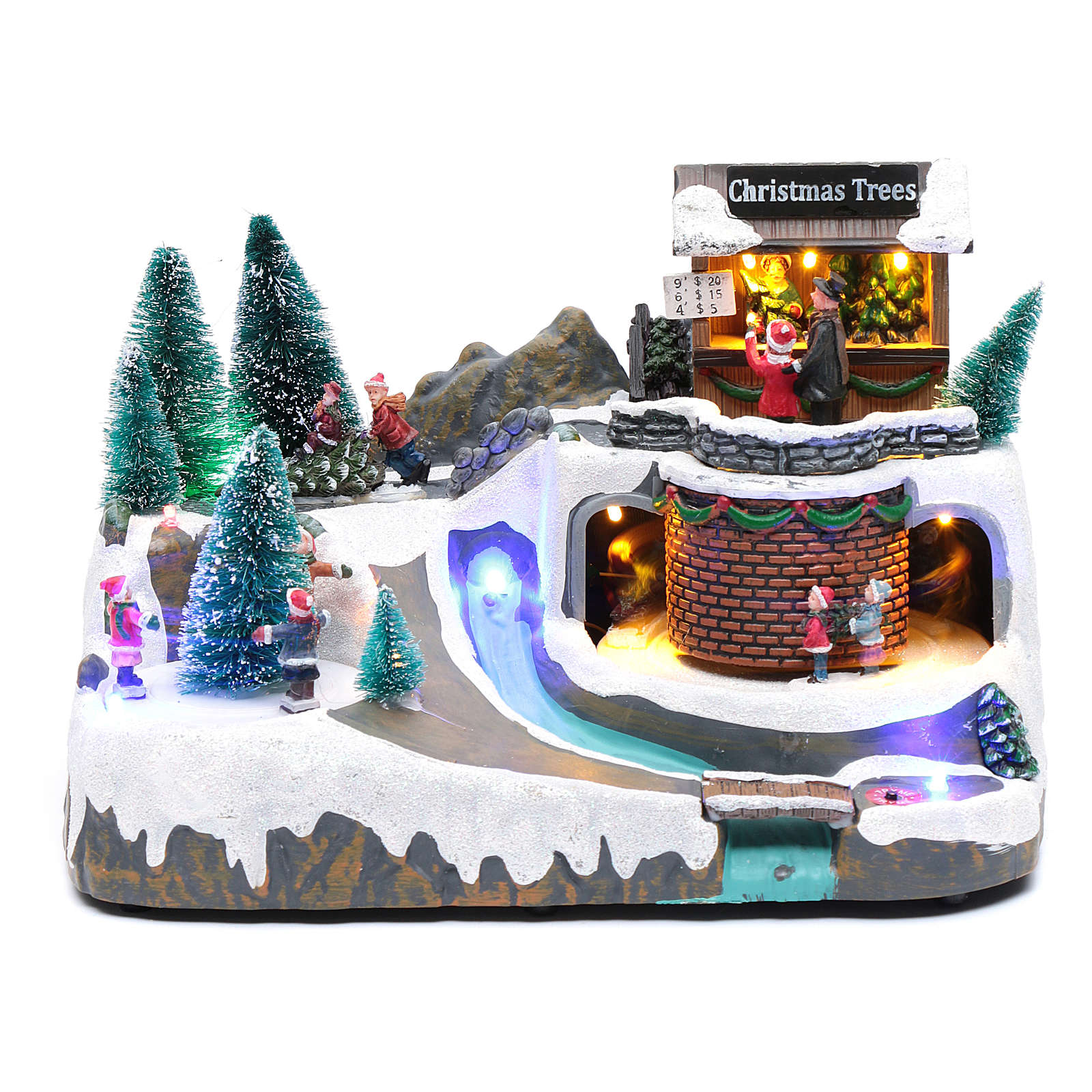 Natale illuminato con musica e movimento 20x25x20 cm 3