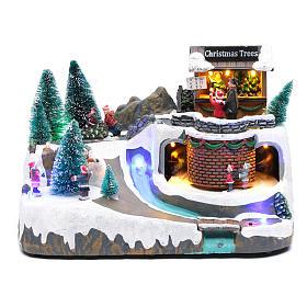 Natale illuminato con musica e movimento 20x25x20 cm s1