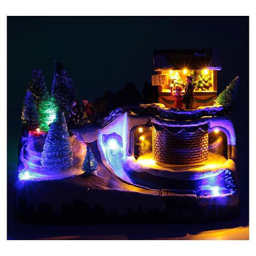 Natale illuminato con musica e movimento 20x25x20 cm 4