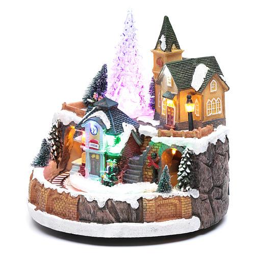 Scena invernale con illuminazione e melodia 25x20x25 cm 2