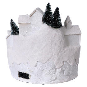 White Christmas village with music 25x25x25 cm s5
