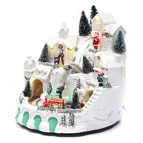 Villaggio bianco natalizio con musica 25x25x25 cm s2