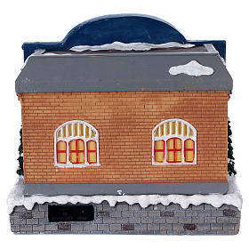 Teatro navideño musical con luces 25x25x20 cm s5