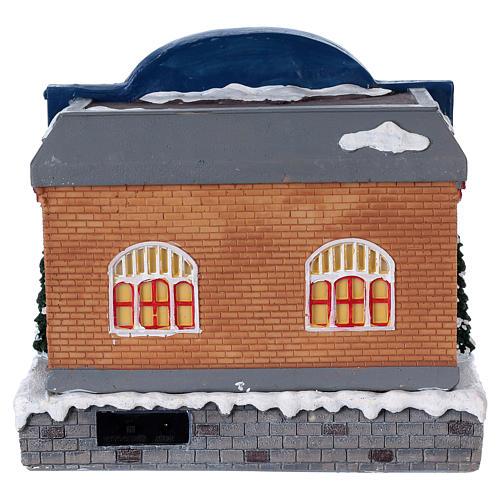 Théâtre Noël musical avec lumières 25x25x20 cm 5