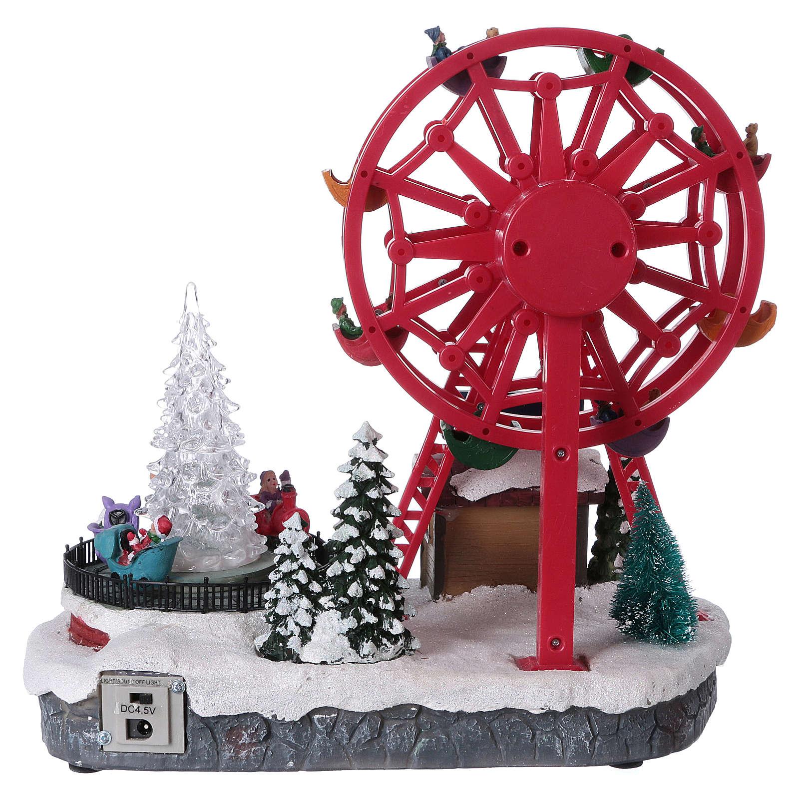 Riesenrad mit Lichter 30x30x20cm 3