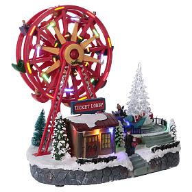 Illuminated Ferris Wheel with lights 30x30x20 cm s4