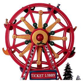 Illuminated Ferris Wheel with lights 30x30x20 cm s5