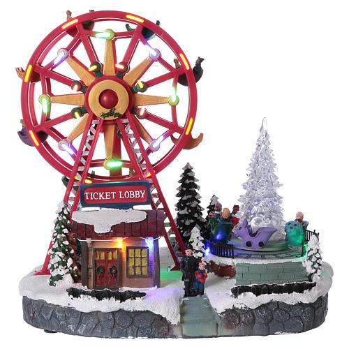 Illuminated Ferris Wheel with lights 30x30x20 cm 1