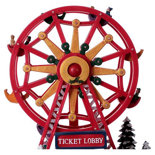 Illuminated Ferris Wheel with lights 30x30x20 cm 5