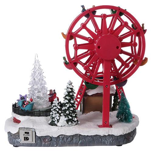 Illuminated Ferris Wheel with lights 30x30x20 cm 6