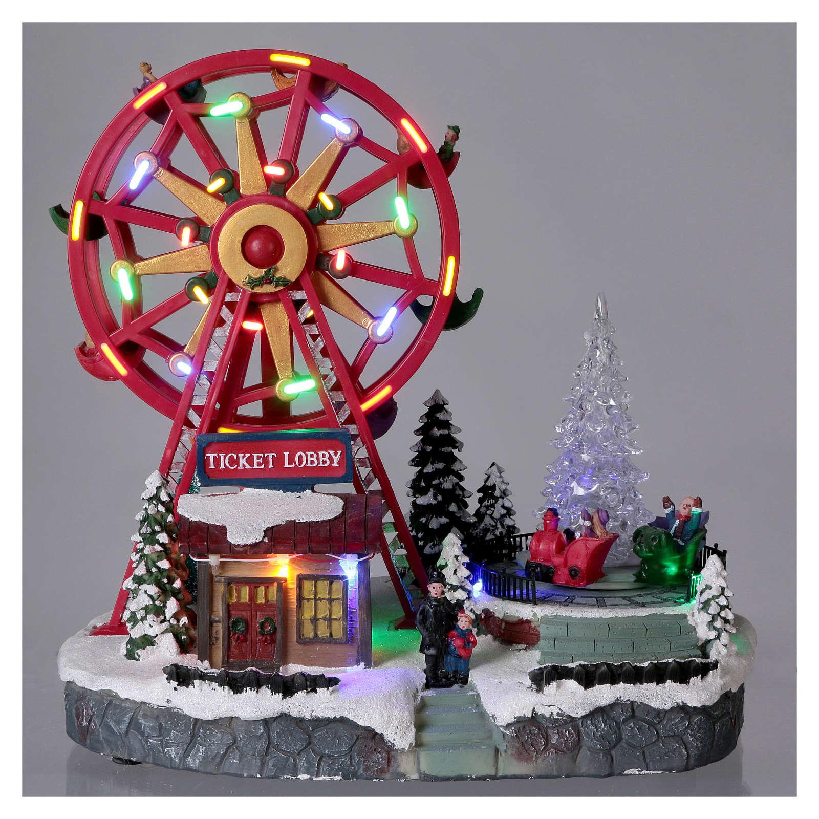 Illuminata ruota panoramica con luci 30x30x20 cm 3