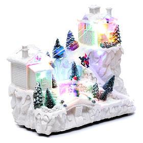 Villaggio natalizio con funivia 30x30x15 cm s3