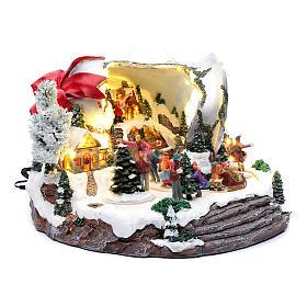 Pueblo navideño campana de Navidad 25x35x40 cm s3