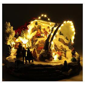 Pueblo navideño campana de Navidad 25x35x40 cm s4